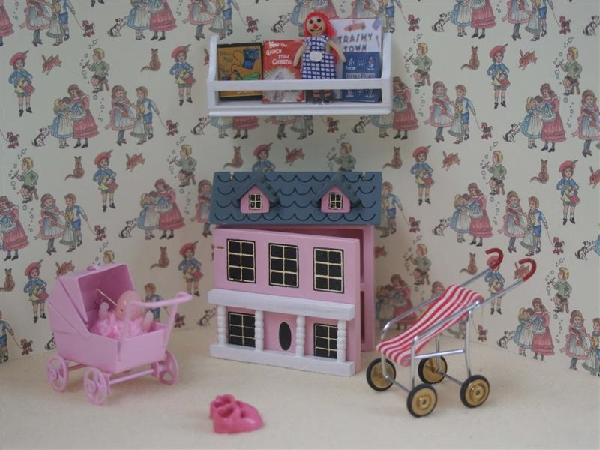 6 Piece Pink Nursery Toys Set. Dolls House Miniature BS22