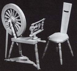 Spinning wheel and chair kit, Phoenix DH-088, 12th scale