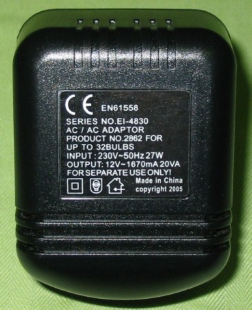12 volt dollshouse lighting transformer. 9073