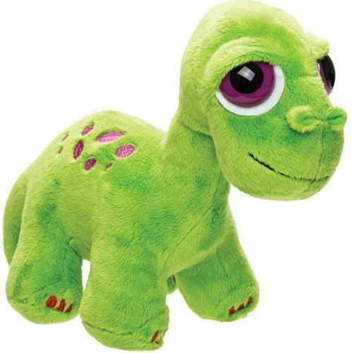 Brontosaurus, green plush, medium size.  Suki.