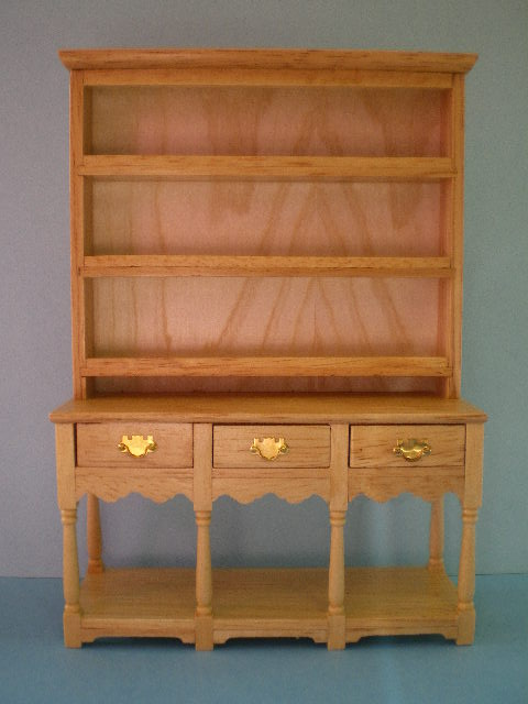 Dolls House Pine Welsh Dresser 12th Scale Dhe 2585