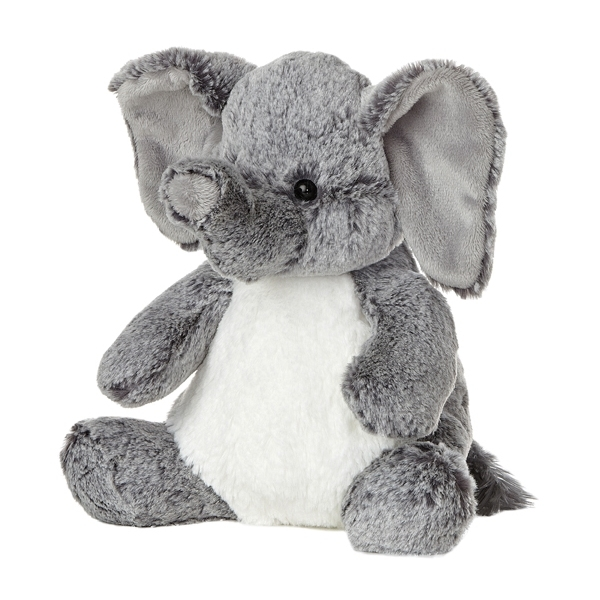 Elio Soft Grey Plush Elephant, 11
