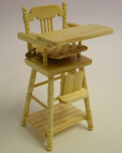 Heidi Ott, Dollshouse High Chair, Cherry. XY107C