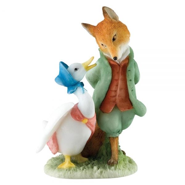Jemima and Foxy, Beatrix Potter figurine. A27676.