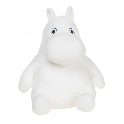 Moomin, white plush soft toy. 8 inch. Aurora 12585