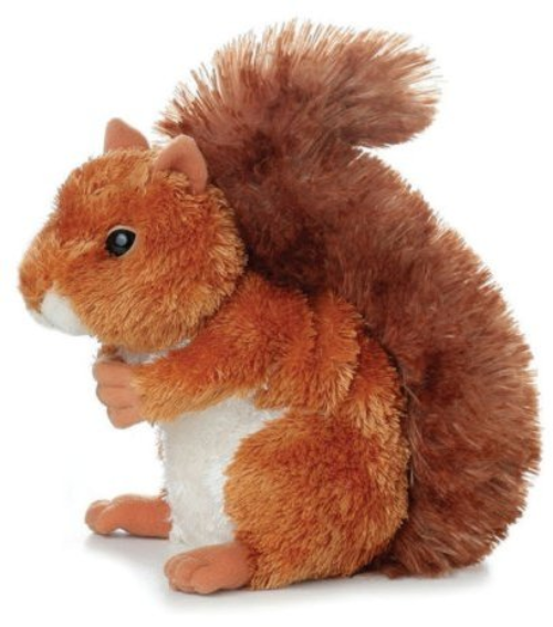 Nutsie- Red Squirrel. Aurora Plush. 12290E