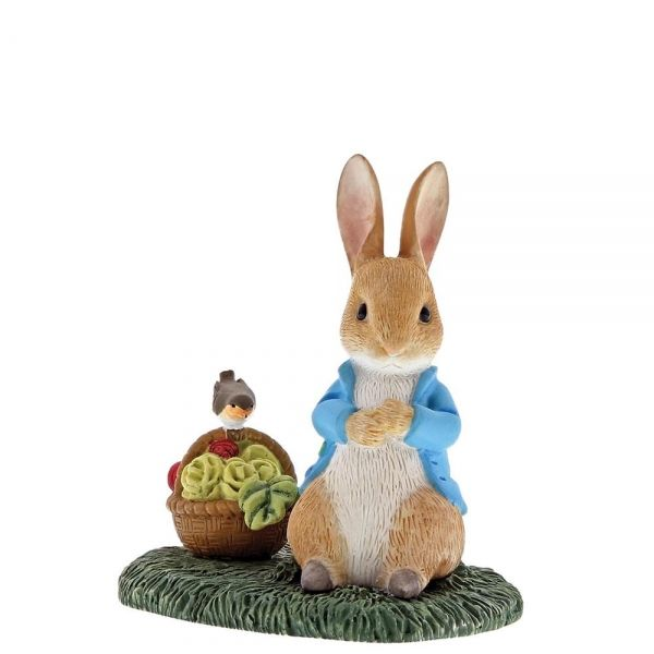 Peter Rabbit with Basket Figurine. A29192