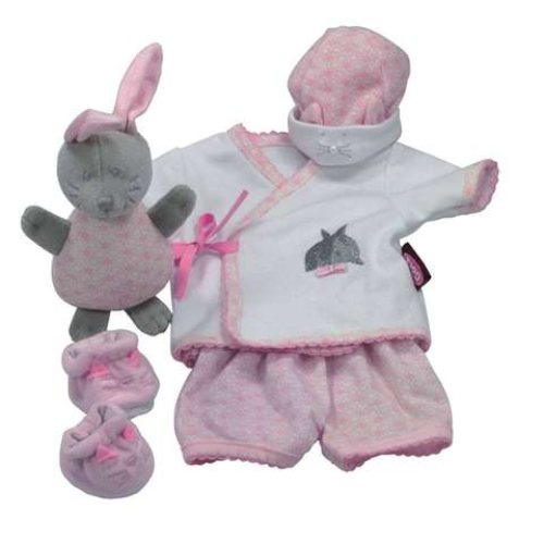 Playsuit Rabbit 30/33 cm Doll Outfit. Gotz 3401729