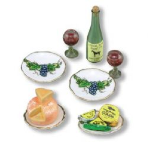Reutter, Cheese and Wine Set for the Dolls House. 1.783/8