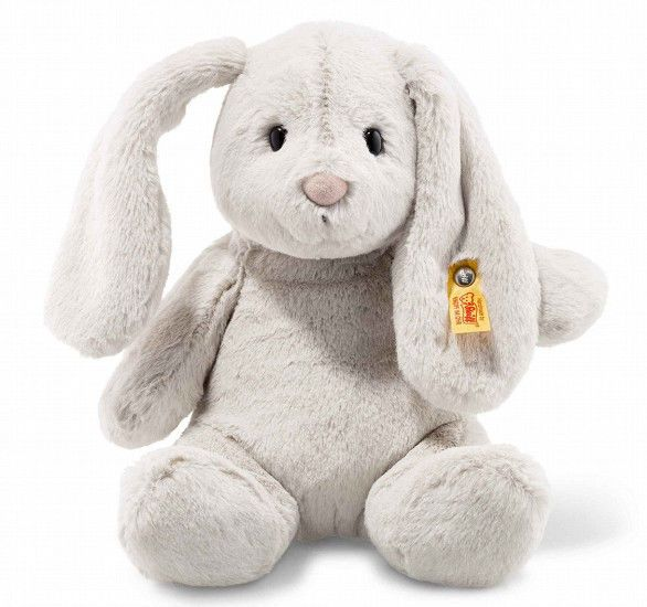 Soft and cuddly grey Hoppie Bunny. 28 cm. Steiff  080470