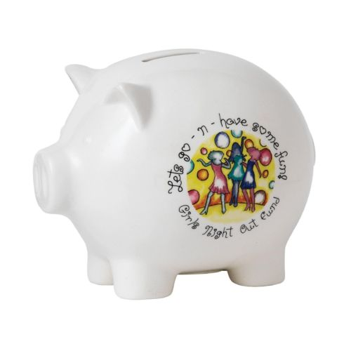 Special Occasions Girls Night Out Fund Porcelain Piggy Bank. A24403